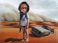 """Art by Richard J. Oliver. Corey Helford Gallery presents group exhibition """"Product Displacement"""" now on Oh, So Surreal:http://www.ohsosurreal.com/2015/05/corey-helford-gallery-presents-group.html"""