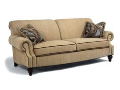 Bexley one tone fabric sofa with nailhead trim by for Sofa by design lake oswego