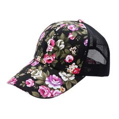 cd41656b6d6 Cosy Women Men Floral Printed Snapback Hat Flat Peaked Adjustable Baseball  Cap-in Baseball Caps from Men s Clothing   Accessories on Aliexpress.com ...