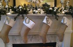 GroopDealz | Burlap Ruffle Christmas Stocking