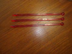 3 Manhattan Hotel New York City Swizzle Sticks Drink Stirrers Red Plastic USA
