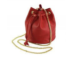 Cross-body leather bag with gold color chain is trendy design as addition to your outfit. Shine on Valentine's time! Vibrant, eye catchy red is great for boast. Next day delivery🚚in Ireland✔Please check on necessities. Leather Backpack Purse, Small Crossbody Bag, Leather Crossbody, Leather Handbags, Cow Leather, Leather Bag, Italian Chic, Purses And Bags, Women's Bags