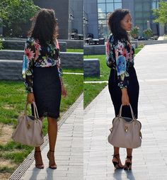 StilettoEsq: Florals and Lace