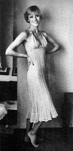 Vintage CROCHET Dress Pattern MINI PDF Pattern by KinsieWoolShop