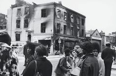 Brixton Riots: Burnt out buildings