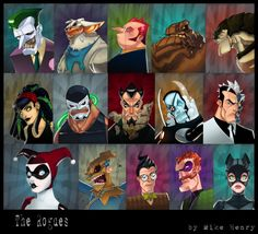 Batman Rogue's Gallery Collage by *Zatransis