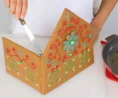 An Easy Gingerbread House - recipe, template and instructions