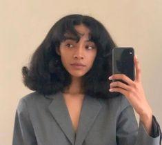 Black Girl Aesthetic, Aesthetic Hair, Black Girls Hairstyles, Pretty Hairstyles, Girls Natural Hairstyles, Curly Hair Styles, Natural Hair Styles, Natural Hair Blowout, Big Natural Hair