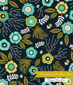 print & pattern: DESIGNER - alisse courter floral aqua teal turquoise