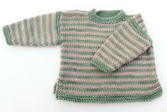 knitted striped baby jumper | Fable
