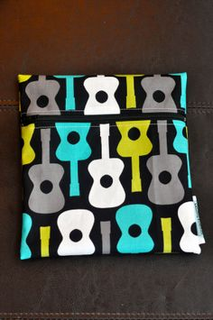 Groovy Guitar Reusable Waterproof by SpoonerSistersDesign on Etsy, $8.00 Wet Bag, Guitar, Gift Ideas, Trending Outfits, Unique Jewelry, Handmade Gifts, Bags, Etsy, Vintage