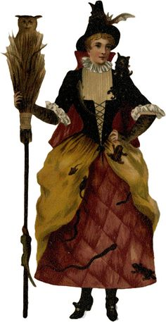 Glanzbilder - Victorian Die Cut - Victorian Scrap - Tube Victorienne - Glansbilleder - Plaatjes : Halloween