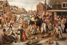 Pieter BALTEN (1525 – 1598) Ecole Flamande La Fête de la Saint- Martin Panneau…