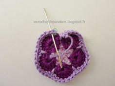 le Crochet de Pandore: Tuto finitions : changer de fil et de couleur sans faire de noeud