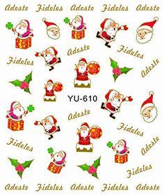 3 Sheets Xmas Santa Claus Christmas Nail Art Stickers Water Transfer Decals Yu610 >>> Additional info @ http://www.amazon.com/gp/product/B016R46E9S/?tag=christmasdecor1-20&pqr=250816003338