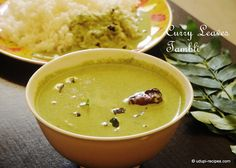 Curry leaves tambli, a coconut and yoghurt based gravy can be prepared just within few minutes, surprises you with it's comforting taste.