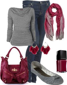 """""""Cranberry"""". I am in love with this scarf"""