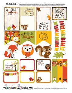 Free Printable It's Fall Y'All Planner Stickers from Victoria Thatcher