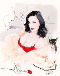 Set dial to stun! Another image from my L.A. diary in C Magazine. Here's Miss Dita Von Teese dressed to receive visitors along with Aleister Von Teese.That darn cat has more followers than I do. What to do? @ditavonteese @aleistervonteese @c.magazine by daviddownton