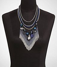 I had to take some chain offs and make it less heavy BUT I must say that I still loved it. LUXE MIXED FACETED STONE OMBRE FRINGE NECKLACE