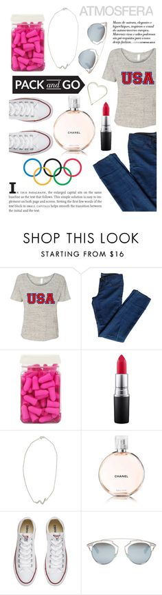 """""""Rio"""" by lialicious on Polyvore featuring J Brand, Opening Ceremony, Dreamgirl, MAC Cosmetics, NOVICA, Converse and Christian Dior"""