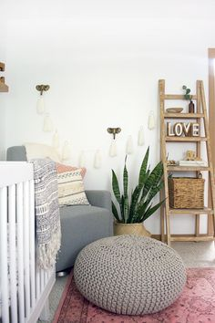 A modern, boho, chic nursery for a little girl sure to inspire!