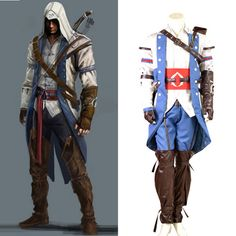 Assassinu0027s Creed III Connor Render Cosplay Costume Halloween Men costumes Custom Made Any Size Express Shipping  sc 1 st  Pinterest & Metal Gear Solid 2 Solid Snake Cosplay Costume #Everyone Can Cosplay ...