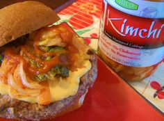Korean Reuben Burger with Kimchi by Apron Strings Blog, via Flickr