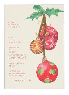 Odd Balls Glass Quartet : Christmas Invitations