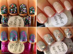 i want these glittery polishes!!