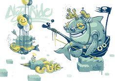 "ERASE "" Night Ride"" Illustration for ""Pooper magazine"" 2014"