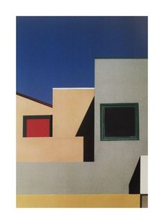 Franco Fontana, an artist using bold colors and prominent shapes.