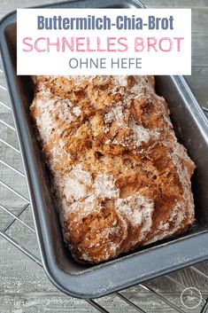 Bake buttermilk chia bread in just 60 minutes, Bread Without Yeast, No Yeast Bread, Bread Baking, Brunch Recipes, Bread Recipes, Veggie Side Dishes, Pampered Chef, Quick Bread, Banana Bread