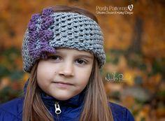 An easy ruffle headband or cowl crochet pattern. Includes all sizes. #crochetpattern  #crochetheadband #headbandpattern