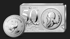 50. výročie najstaršej investičnej mince sveta  Prvý strieborný Krugerrand v histórii v 3 unciach rýdzeho striebra