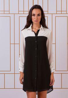 Vestidos chemise - Vestido do Dia
