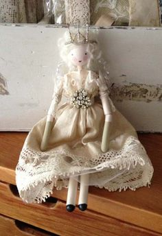 Beautiful Handmade Fairy Doll 'Mischa'-vintage fairy doll, antique fairy doll, handmade christmas fairy doll ~ bettyandviolet