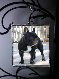 Custom Stained Glass Christmas Ornament by WhiteTorchGlassworks, $14.00