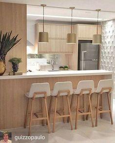 cocinas-pequenas-modernas (4) | Curso de organizacion de hogar aprenda a ser organizado en poco tiempo #casasmodernaspequenas