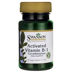 Swanson Activated Vitamin B-1 16 mg 30 Veg Caps * Click on the image for additional details.