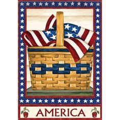 America Basket Double Sided Flag