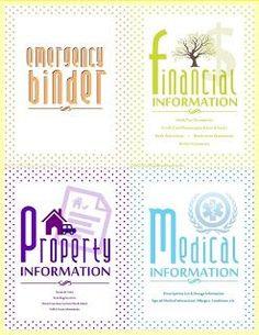 FREE PRINTABLE: Emergency Binder with instructions.  Finally an emergency binder printable that looks good!