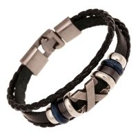 Watch-Discounter - Ravi heren leren armband zwart