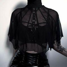 Hi mirror smart home fashion, gothic outfits, grunge fashion Gothic Outfits, Edgy Outfits, Mode Outfits, Grunge Outfits, Fashion Outfits, Fashion Ideas, Fashion Clothes, Fashion Mode, Dark Fashion