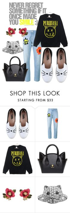 """Where Do Crazy Cat Ladies Go When They Die?"" by pampire ❤ liked on Polyvore featuring Karl Lagerfeld, STELLA McCARTNEY, Les Néréides, SOPHIE MILLER and purrvana"