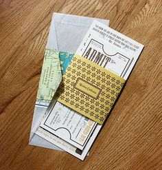 ticket invitations - cool idea to try