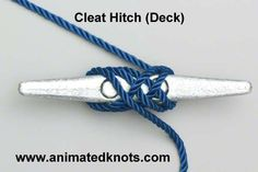 Cleat Hitch | How to tie the Cleat Hitch for a Dock Line | Boating Knots