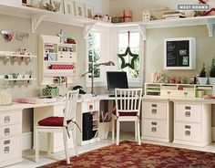 Would love a set up like this for my crafts and teacher/school stuff