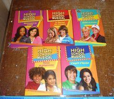 Lot de 5 Livres High school musical Bibliothèque rose disney