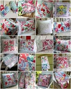 Repurposed vintage linens by myrtle